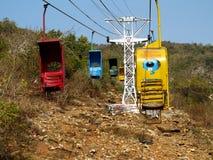 веревочка кабин красная трехсторонняя Стоковые Фотографии RF