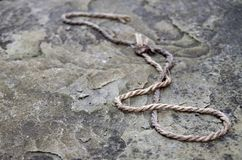 Веревочка камня стоковые фотографии rf
