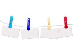 веревочка карточек Стоковые Фотографии RF