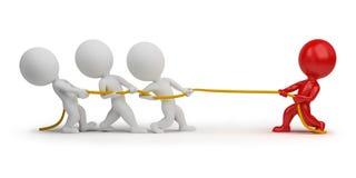 веревочка людей 3d вытягивая малая Стоковая Фотография RF
