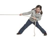 веревочка малыша вытягивая Стоковые Фотографии RF