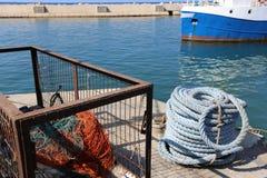 Веревочка морем стоковые фото