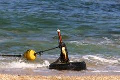 Веревочка морем стоковая фотография rf