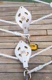 Веревочка на блоках Стоковая Фотография RF