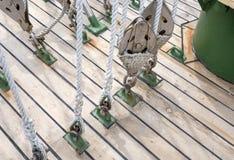Веревочка на блоках Стоковые Изображения