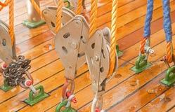 Веревочка на блоках Стоковое фото RF