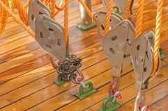 Веревочка на блоках Стоковая Фотография