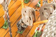 Веревочка на блоках Стоковое Фото