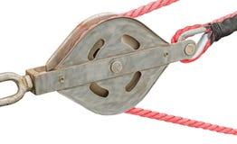 Веревочка на блоках Стоковые Изображения RF