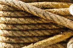 Веревочка на корабле Стоковое Изображение