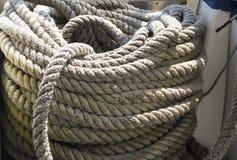 Веревочка на корабле Стоковые Изображения