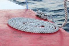 Веревочка на корабле Стоковые Фотографии RF