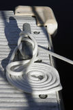Веревочка на стыковке Стоковые Фото