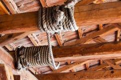 Веревочка на луче Стоковые Изображения RF