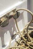 Веревочка на яхте Стоковые Фото
