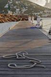 Веревочка на footbridge Стоковое фото RF