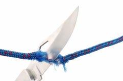 веревочка ножа лезвия Стоковые Изображения RF