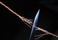 веревочка ножа стоковые изображения