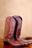 веревочка пар ковбоя ботинок коричневая Стоковое Изображение RF