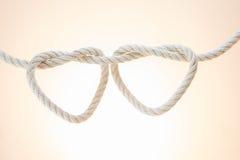 Веревочка поводка в форму сердца Стоковые Фото