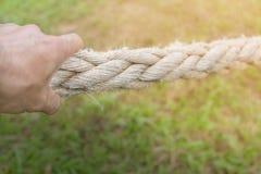 Веревочка руки вытягивая Стоковое Фото