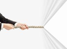 Веревочка руки вытягивая Стоковые Фотографии RF