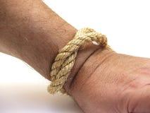 веревочка руки Стоковые Изображения RF