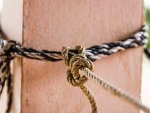 Веревочка связана Стоковое Изображение