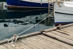 Веревочка связанная с узлом моря Стоковое Изображение RF