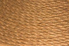 Веревочка сизаля плотно положенная в строки стоковое изображение