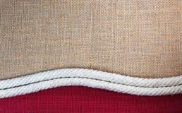 Веревочка с джутом стоковое изображение