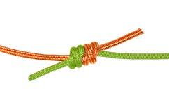 Веревочка узла, зеленого цвета и апельсина виноградного вина Стоковая Фотография