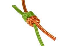 Веревочка узла, зеленого цвета и апельсина виноградного вина Стоковые Изображения RF