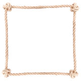 Веревочка узла рамки Стоковое фото RF
