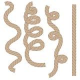 Веревочка установленное Isoated Стоковое Изображение
