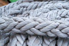 Веревочка, шпагат, оснащая для яхт, парусники, корабли стоковое фото rf
