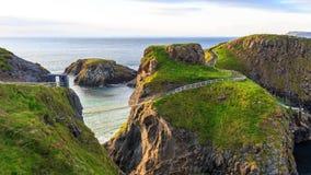 Веревочка Carrick-A-Rede в Северной Ирландии Стоковое Изображение RF