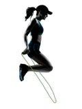 Веревочка jogger бегуна женщины скача Стоковое Изображение RF