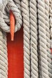 Веревочки и детали рангоута Стоковое фото RF