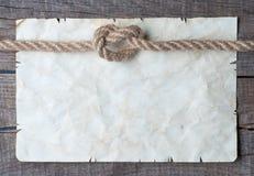 Веревочки и старая винтажная старая бумага Стоковые Изображения