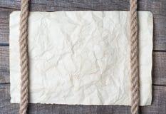 Веревочки и старая винтажная старая бумага Стоковое Изображение
