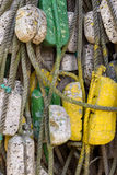 Веревочки и томбуи Стоковое Фото