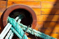 Веревочки корабля стоковые изображения