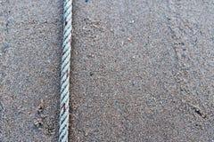 Веревочки на поле песка Стоковая Фотография RF