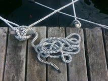 веревочки на пристани Стоковая Фотография