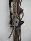 Веревочки парусного судна Стоковое Фото