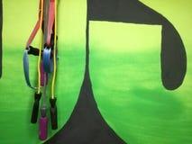Веревочки скачки в спортзале стоковые фотографии rf