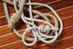 веревочки узлов Стоковое Изображение