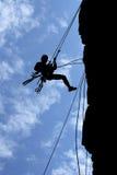 веревочки человека альпиниста Стоковое Изображение RF