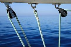веревочки шкивов Стоковая Фотография